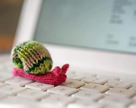 knitted snail