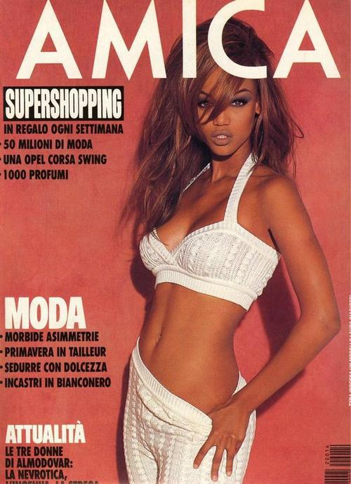 tyra banks knitted lingerie
